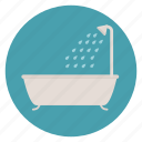 bath tub, bathroom, shower icon