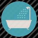 shower, bath tub, bathroom
