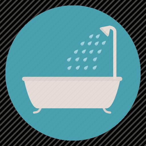 bath tub, bathroom, shower icon