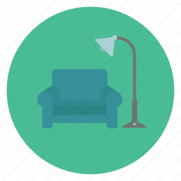chair, cozy, furniture, lamp icon