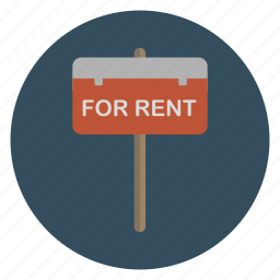 for rent, real estate, rental icon