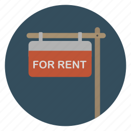 real estate, rent, rental, sign icon
