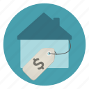 house, real estate, sell icon