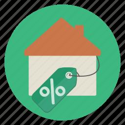 discount, real estate, sale icon