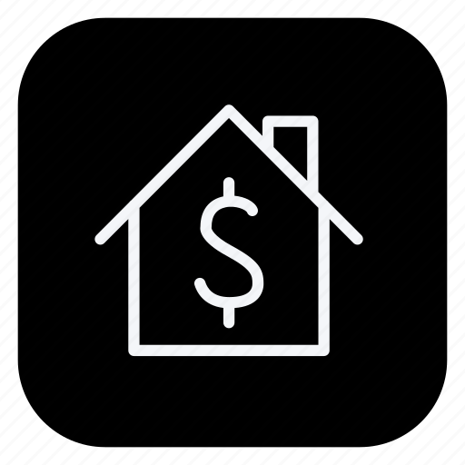building, dollar, estate, home, house, property, real icon