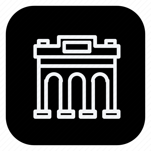 arch, architecture, building, estate, monument, property, real icon