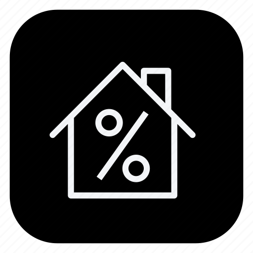 building, estate, home, house, percentage, property, real icon