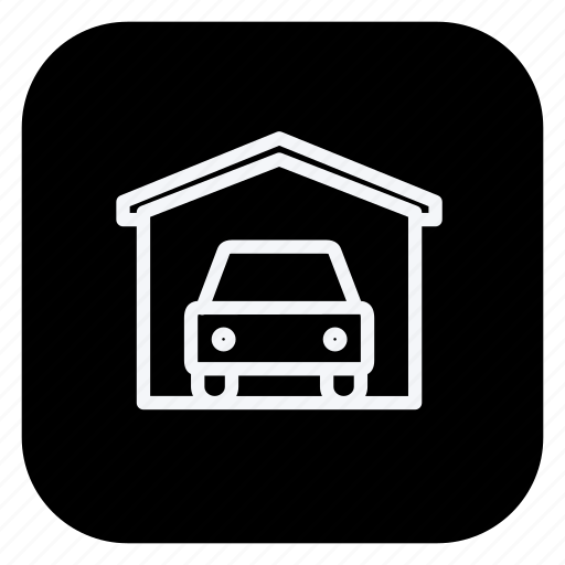 building, car, estate, garage, monument, property, real icon