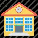 building, real, school, college, estate icon