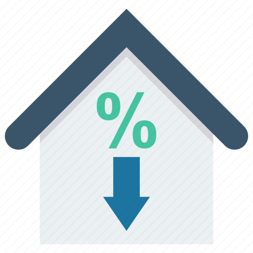 building, discount, home, house, sale icon