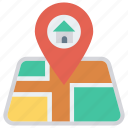 home, house, location, map, pin icon