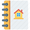 real, home, book, estate, house icon