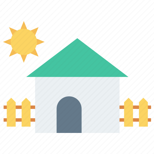boundary, house, safety, sun, weather icon