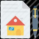 create, diagram, house, pencil, sketch icon