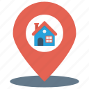 home, house, location, map, pin