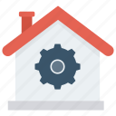 building, home, house, real, setting icon