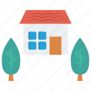 home, house, nature, real, tree icon