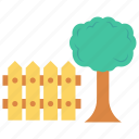 boundary, garden, nature, park, tree icon