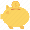 bank, finance, money, piggy, saving icon