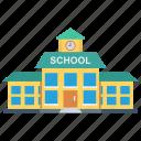 building, education, estate, real, school icon