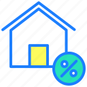 discount, emi, home loan, interest, loan, percentage icon