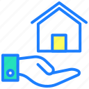 buy home, house, property, protection, real estate, sale icon