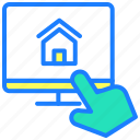 buy home, online sale, property, real state, sale, website icon