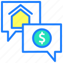 buy home, chat support, communication, conversation, customer support, service center icon
