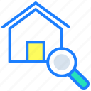 browse property, find home, property, real estate, search home icon