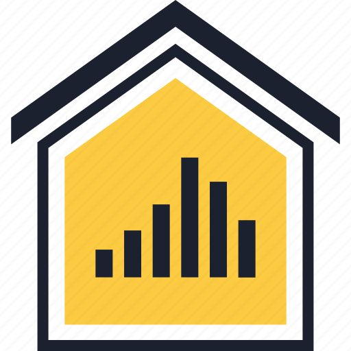 bars, data, home, up icon