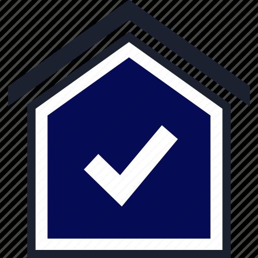 check, home, mark icon