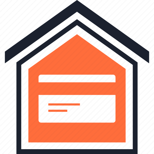 card, credit, home icon