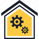 gear, home, options icon