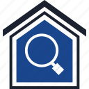 find, home, search icon