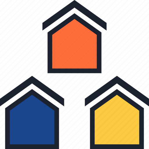 equity, home, three icon