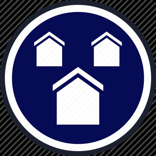 home, houses, three icon