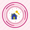 home, house, key, new icon