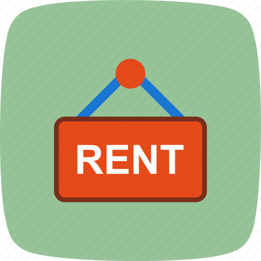real estate, rent, sign icon