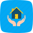 home insurance, house, insurance, protection icon