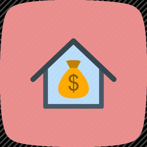 house, money house, value icon