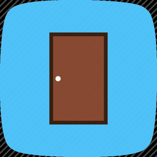 closed door, door, wooden door icon