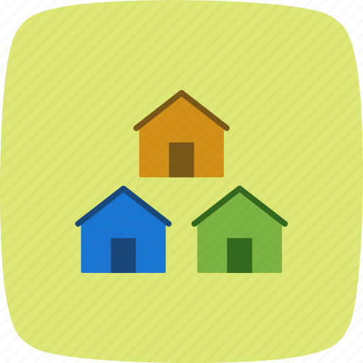community, houses, neighbors icon