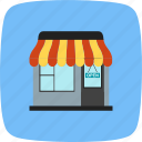 online shopping, shop, shopping center icon