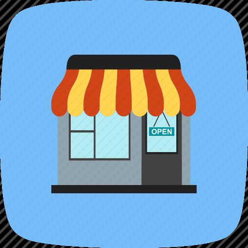 online shopping, shop, shopping center icon