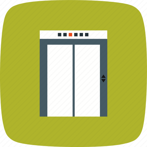 elevator, lift, weight icon