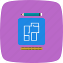 blueprint, map, new house plan icon