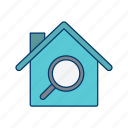 find property, home search, house hunting, house search, property, real estate, search icon