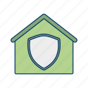 home protection, house, house insurance, house security, house shield, protection, safe house icon