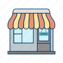 family shopping, online shopping, shop, shopping cart, shopping center, shopping mall, store icon