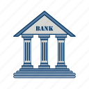 bank, bank building, banker, business, finance, money, piggy bank icon